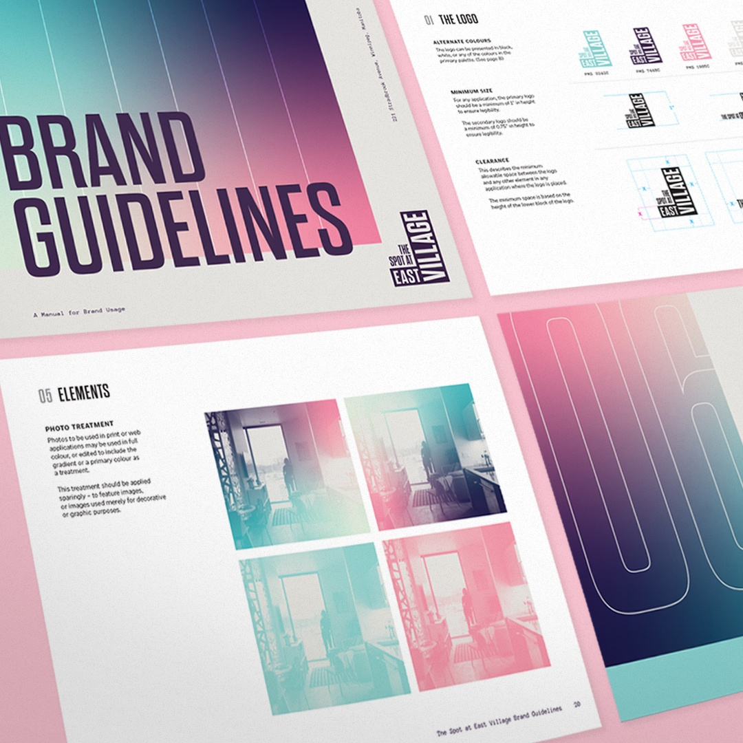 The Spot At East Village brand guidelines