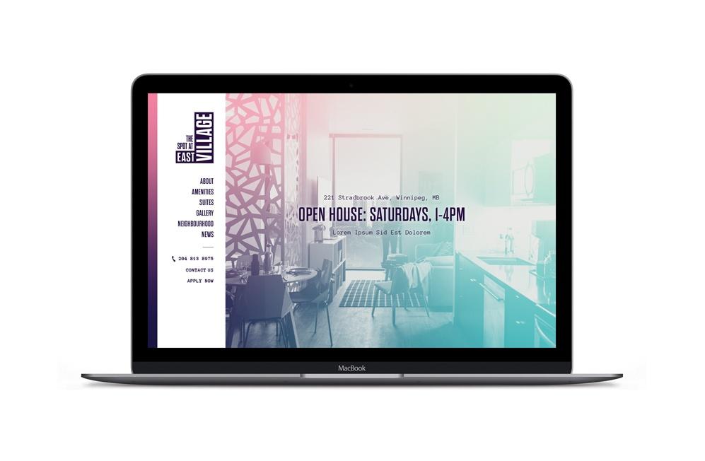 The Spot At East Village desktop website