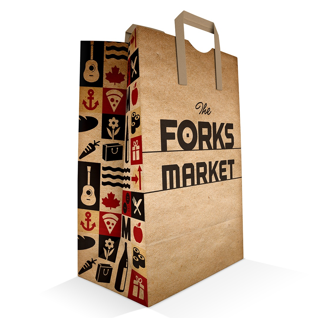 The Forks Market bag design