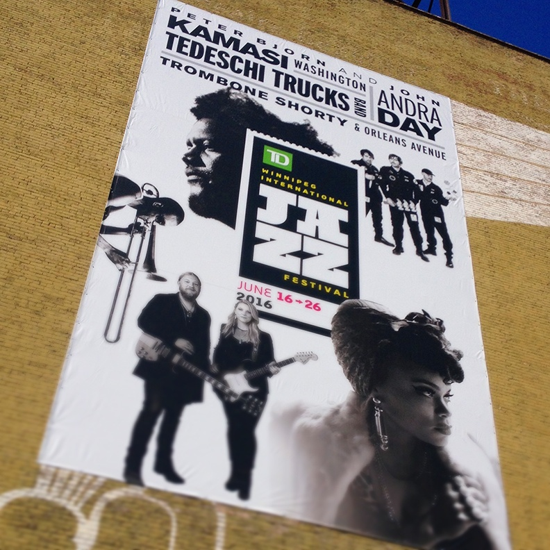 International Winnipeg Jazz Festival banner