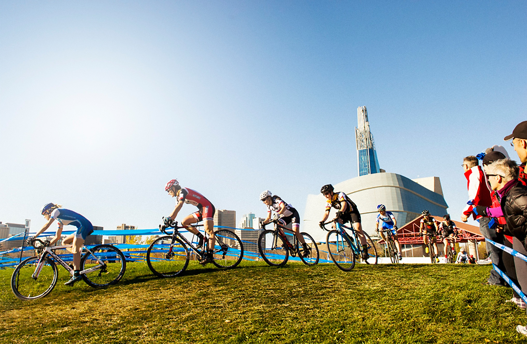 CMX Cyclocross Nationals cyclists race